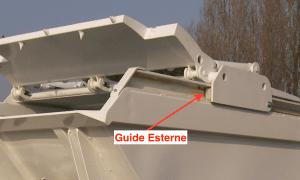 Guide carrello pala esterne alla vasca